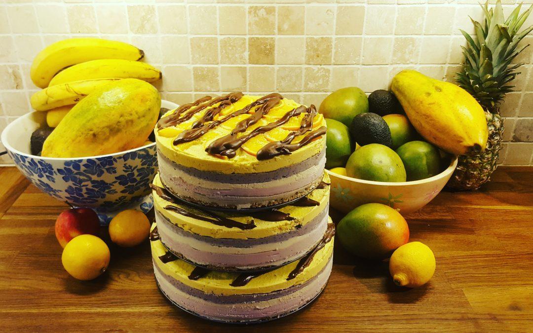 Raw Vegan Layered Rainbow Birthday Cake Faithcanter