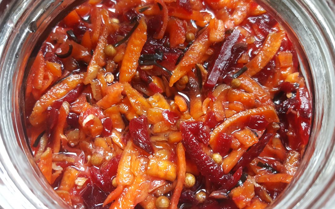 Fermented Beetroot, Carrot & Ginger Kraut Recipe